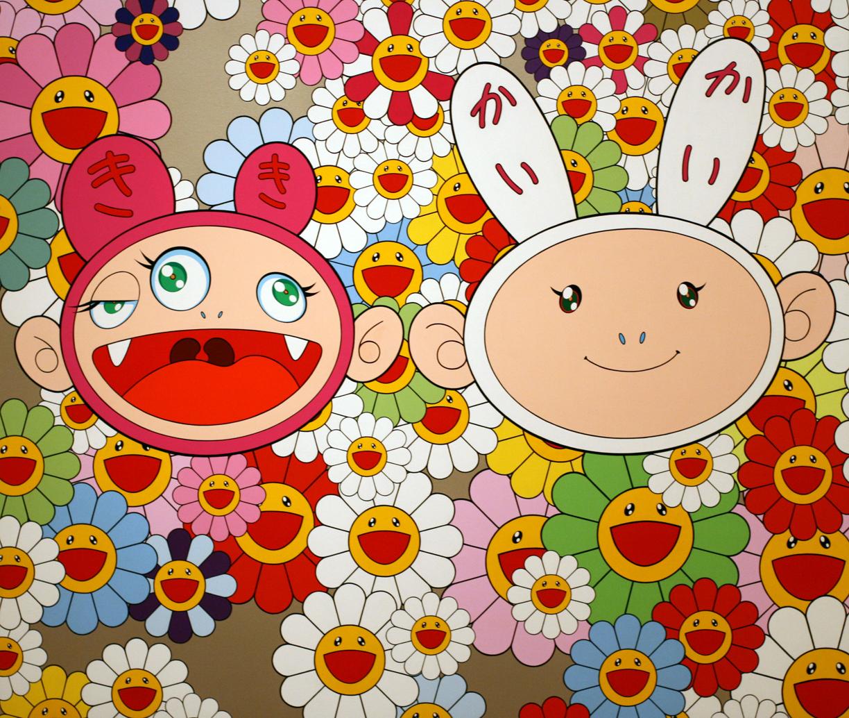 Takashi murakami sun flowers and contemporary art uniqlog - Superflat Lv Murakami
