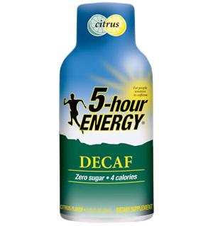 5-hour energy decaf