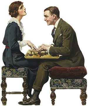 ouija by norman rockwell