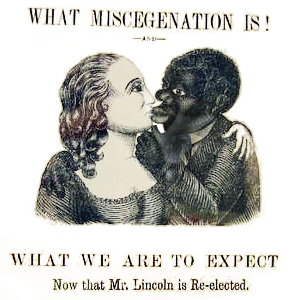 ... the 19th century to refer to interracial marriage and interracial sex, ...