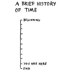 A brief history of time by Hugleikur Dagsson