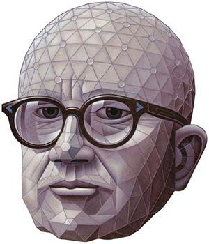 Buckminster Fuller by Boris Artzybasheff