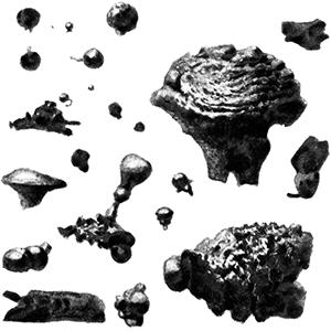 micro meteorites by Lucien Rudaux