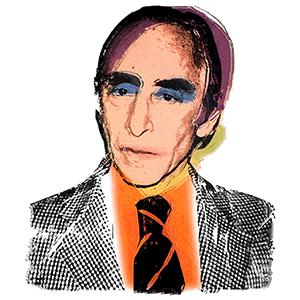 Leo Castelli by Andy Warhol