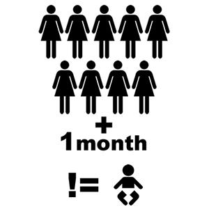 nine women one month
