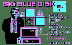 big blue disk