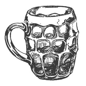 dimpled beer mug