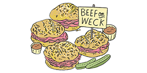 beef on weck by Adam Hayes