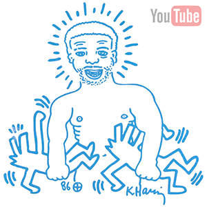 larry levann by keith haring