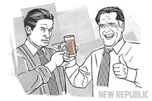 Romney and Gekko by Zina Saunders