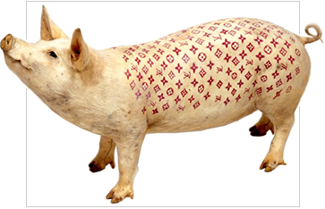 pig by Wim Delvoye