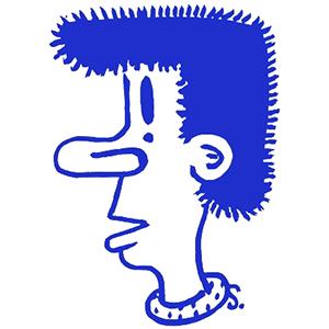 Ultramarine Boofhead by martin sharp