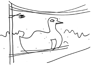 big duck sketch by Robert Venturi