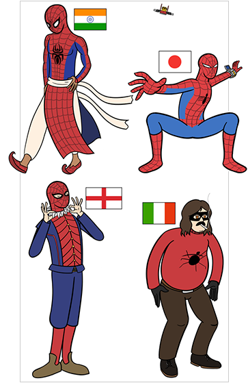 spidermen by Matt Boblet