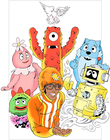 yo gabba gabba by Brandon Bird