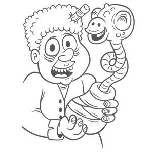 eraserhead coloring book