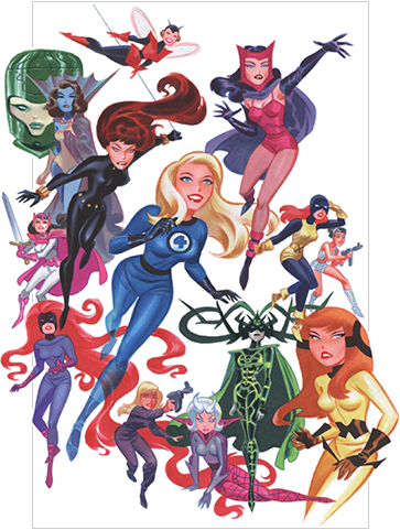 Women of Marvel by Bruce Timm