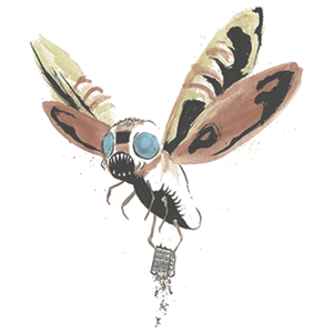 Mothra by Alex Pardee