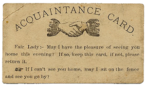 acquaintance card