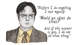 dwight Schrute by Cindy Lesman