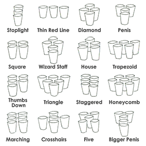 beer pong formations