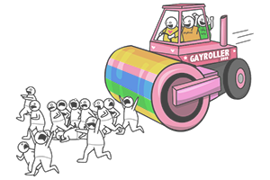 gay steamroller by the oatmeal