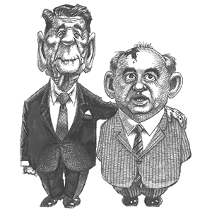 Reagan and Gorbachev by Terry Mosher